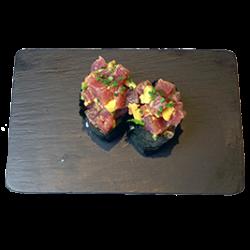 Gunkan atún picante